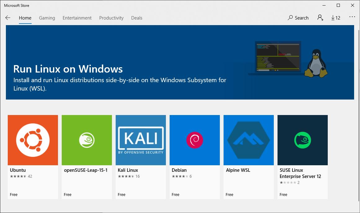 Microsoft App Store Run Linux On Windows