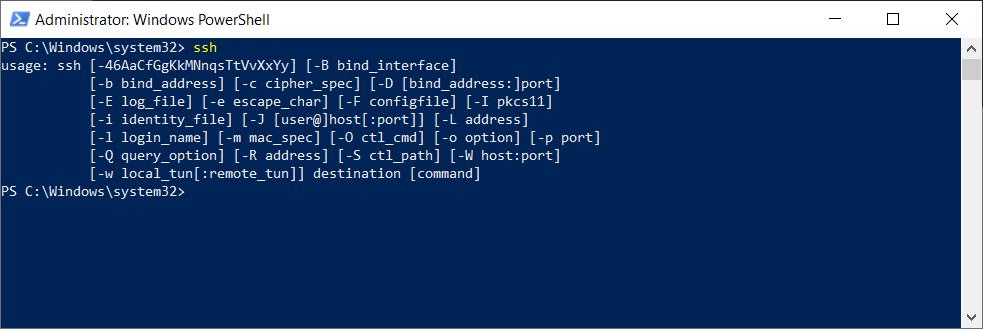 PowerShell Run SSH